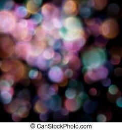 Bokeh blurred lights on dark background. EPS 10