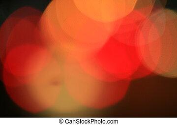 bokeh blurred of car in city at night