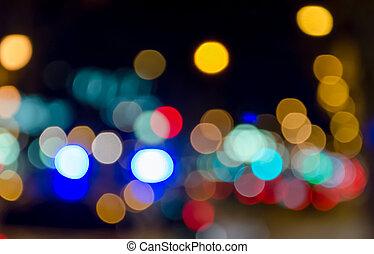 bokeh - Bokeh lights of many colors.