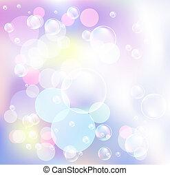 bokeh, bubblar