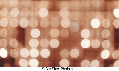 Bokeh candle lights wall background