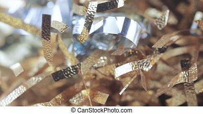 Bokeh Christmas tinsel - In bulk New Year's rain and tinsel