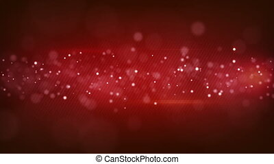 bokeh circles on red striped background loopable