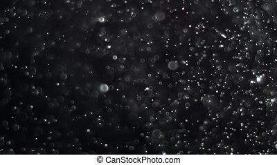 Bokeh Danse - Dust Cloud Isolated Black Background Bubble...