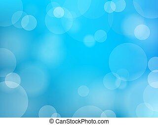 Bokeh effect blue vector background