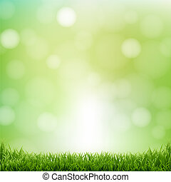 bokeh, erba, sfondo verde, natura