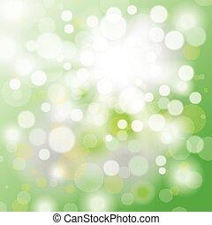 bokeh, estate, luce sole