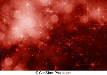 bokeh, experiência vermelha, estrelas, natal