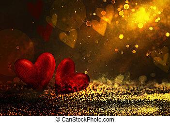 bokeh, fényes, elvont, háttér, ., valentines, háttér