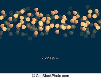bokeh festival lights background design