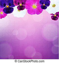 bokeh, fleur, carte