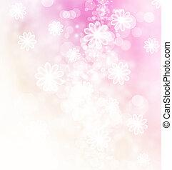 bokeh, flores, ilustración