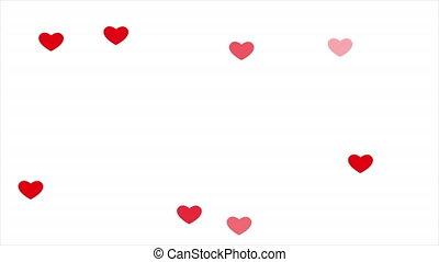 bokeh, fond blanc, cœurs