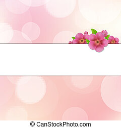bokeh, fondo, con, sakura, fiori