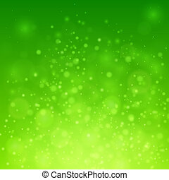 bokeh, fondo, verde