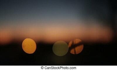 bokeh background at sunrise
