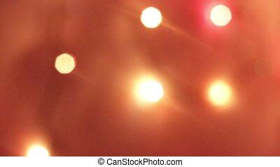 Bokeh from the New Year's garland. Flashing garland. New...