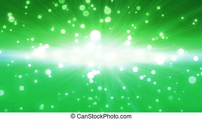 bokeh glow background forward green