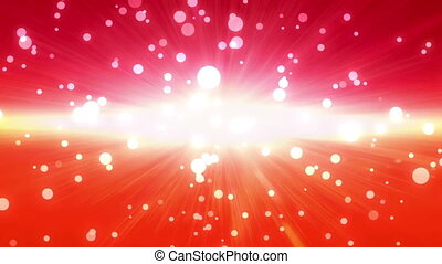 bokeh glow background forward red