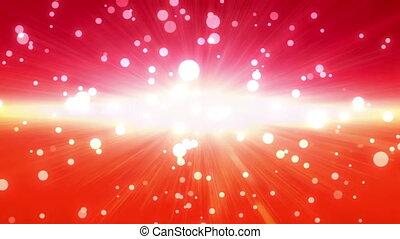 bokeh glow background forward red