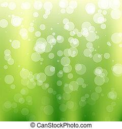 bokeh, grön fond