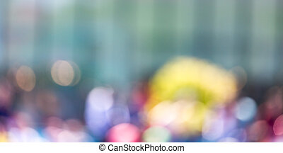 Bokeh in the city as a background