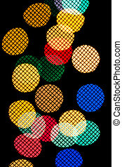 bokeh in the form of colored circles