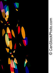 bokeh in the form of colored shapes