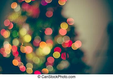 bokeh, kerstmis, achtergrond