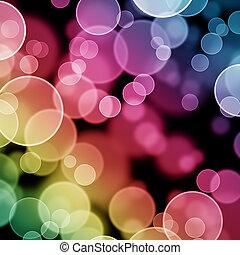 bokeh, kleurrijke, achtergrond, abstract