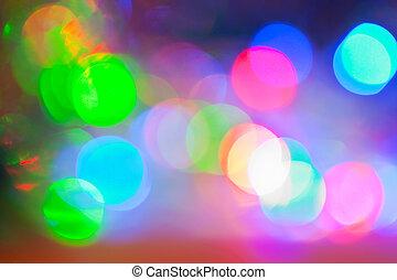 bokeh, kleurrijke, tonen
