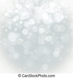 bokeh, lichten, kerstmis, achtergrond