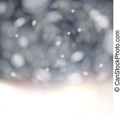 Bokeh light background with white copyspace. - Bokeh...