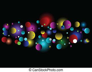Bokeh light effect background