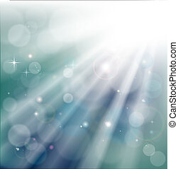 Bokeh light rays background - A light rays background with...
