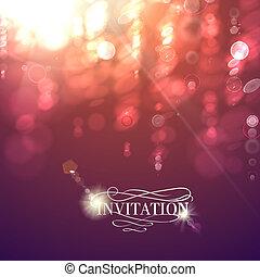 Bokeh light vintage background. Vector illustration.