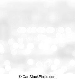 Bokeh light Vintage background.Silver color Christmas back,...
