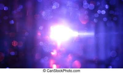 Bokeh lights abstract loopable background - Blue and red...