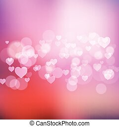 bokeh lights and hearts background 1212