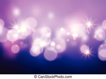 Bokeh lights and stars background