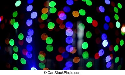 Bokeh lights. Beautiful Christmas background. Christmas and New Year. Christmas light background Festive abstract background with light bokeh