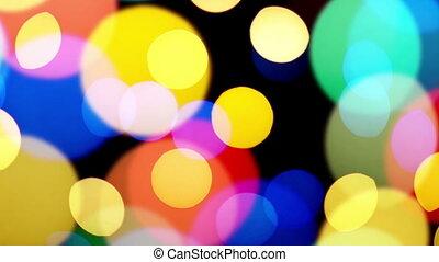 Bokeh lights blinking