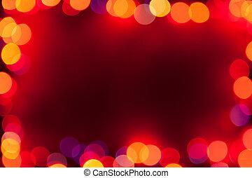 bokeh lights frame
