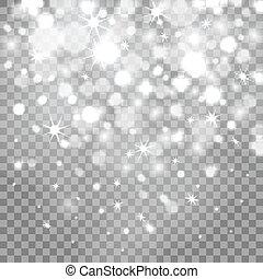 Bokeh lights on transparent background