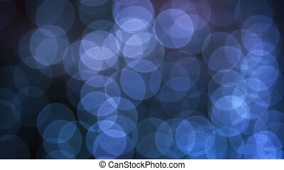 Bokeh Lights Swaying in a Light Breeze