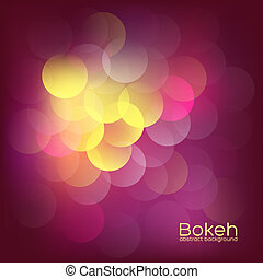 Colorful bokeh lights. Abstract dark vintage background