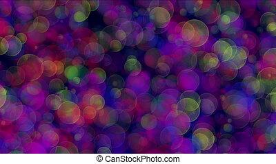 bokeh, lumières, cercles
