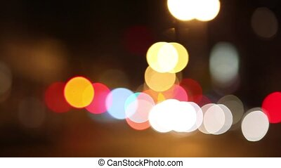 Bokeh night life - Bokeh effect on night traffic and lights...