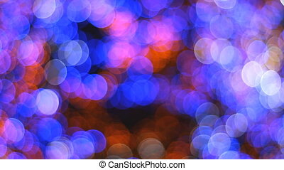 Bokeh of a Christmas tree