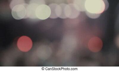 bokeh of a flashing light - Bokeh of flashing multicolored...